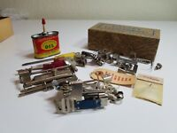 Greist Bottom Clamp Mount Attachment Set Vintage Rotary Sewing Machine Oil can