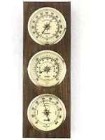 Vintage Springfield Barometer Weather Station Thermometer Barometer Hanging