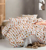 Linen House Haze Pink Sand Queen King Super King Quilt Cover Set | Cotton