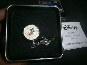 Disney Mickey Mouse Pocket Watch West End Collection With box RARE- Free Postage