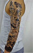 Full Arm Tattoo XXL Einmal Tattoo Skull  Death Timer Rose 44,5x15cm QB-3040