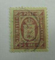 Denmark SC #O9a  Used stamp