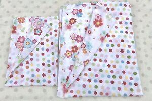 Girls pretty bright coloured flower spotty single duvet cover & pillowcase set