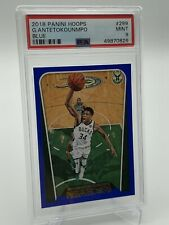 2018-19 NBA Hoops Giannis Antetokounmpo BLUE Prizm PSA 9 - POP 4 - Bucks