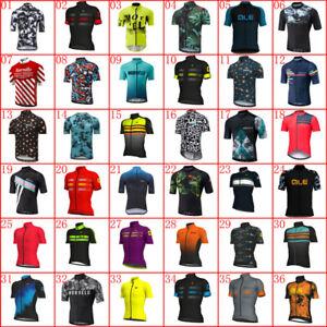 2021 Team Bike Shirt Mens Cycling Jersey Short Sleeve Top Racing Bicycle Uniform