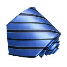 Men's dark blue and light   stripped neck tie