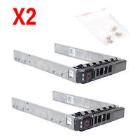 """2PCS Dell 2.5"""" G281D SATA SAS Tray Caddy R720 R720xd R620 R710 R610 KG7NR G176J"""