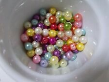 300pcs 10mm Acrylic Faux Imitation Pearl Round Beads - ASSORTED / MIXED M08
