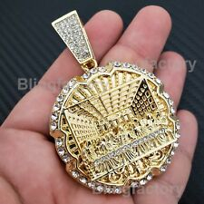 HIP HOP ICED LAB DIAMOND GOLD PLATED LARGE LAST SUPPER FASHION CHARM PENDANT