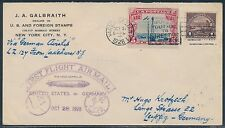 #571 & #C11 ON ZEPPELIN FIRST FLIGHT USA TO GERMANY OCT 28,1928 BT9256