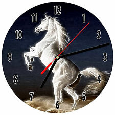 "8"" WALL CLOCK - Horse 8 Horses Equestrian - Kitchen Office Bathroom Bar Bedroom"