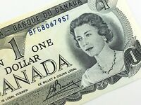 1973 Canada 1 One Dollar BFG Prefix Uncirculated Canadian Banknote K867