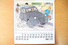 RARE PAGE CALENDRIER CITROEN/TINTIN LES 60 ANS - 24 x 22 cm - 1984 !! A VOIR