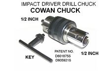 HALF INCH DRILL CHUCK FOR IMPACT DRIVER WITH FREE 3 ADAPTER SET
