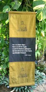 Wandbehang Dalai Lama Stoff Buddha Fahne Wanddeko Dalailama Nepal Fahne Buddhism
