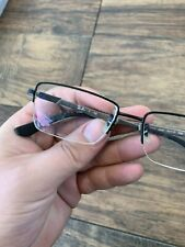 RAY-BAN RB6263 2503 Eyeglasses Frame Half Rimless 52-17-145 Black Silver G59