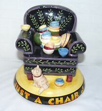 Mary Engelbreit Life Is Just A Chair Of Bowlies Coin Change 6x6 Bank Ceramic