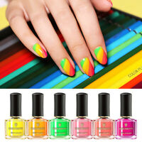 BORN PRETTY 6ml Fluorescence Nail Polish Summer Series Orange Nail Art Varnish