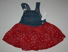 New OshKosh 2T 3T 4T 5T Girls Jumper Dress Red White...