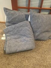 Pottery Barn Teen Kelly Slater Queen/full Quilt + EURO Sham Set Plus Inserts