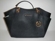 MICHAEL KORS Black Jet Set Travel Large Chain Shoulder Tote handbag NWT