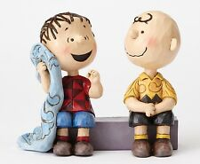 Peanuts Snoopy Jim Shore 4054081 Sage Advice Charlie Brown and Linus