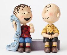 Peanuts Charlie Brown & Linus on Sidewalk by Jim Shore NEW  27412