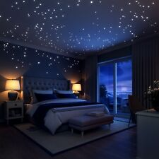 Glow In The Dark Stars and moon wall stickers 252 decals for bedroom LIDERSTAR