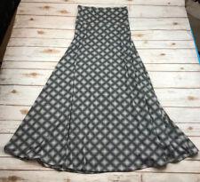 Vtg LulaRoe S Small Black White Diamond Polka Dot Plaid Maxi Long Skirt Cottony