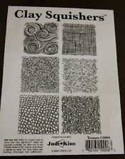 Rubber stamp textures by Clay Squishers, great for polymer clay