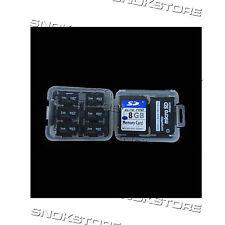 BOX PLASTIC 8 in 1 MIcro SD TF MS MEMORY CARD STORAGE holder CUSTODIA schede SD