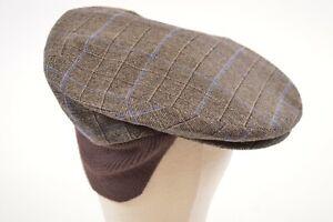 Doria Gruppo Borsalino NWT Wool Newsboy w/Flaps Italy Brown/Blue 7 & 3/4, 62, XL