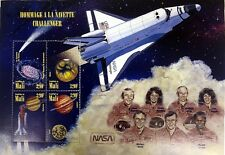 1996 MALI SPACE STAMPS SHEET OF 4 U.S. CHALLENGER SPACE SHUTTLE HALLEY'S COMET