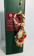 Slavic Treasures Retired Glass Ornament - Santa Claus