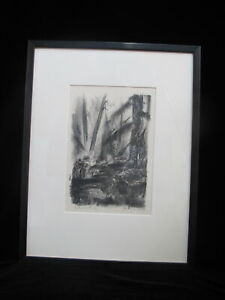 Signed Oregon Artist JEANNE MOMENT 1958 Limited Edition Etching METOLIOUS #3