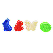 4pcs Rabbit Butterfly Chick Easter Egg Biscuit Cookie Cutter Fondant Cake Mold