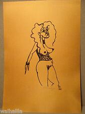 Nackte Frau Frauenakt 1924  Tuschezeichnung im Bordell