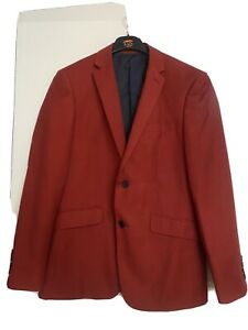 Mens Skopes Red 2 Peice Suit Size med Jacket , 32R Suit Trousers