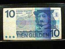 NETHERLANDS 10 GULDEN 1966 DUTCH SHARP 38# Currency Bank Money Banknote
