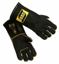 Esab Heavy Duty Black Welding Gloves Mig Welders Gauntlets Size 9 L