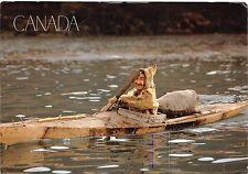 B26312 canada old man in canoe sport