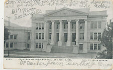 B8679 1906 POSTCARD LOS ANGELES CA POLYTECHNIC HIGH SCHOOL