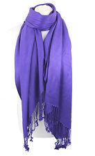 Violet Haute Qualité Pashmina Étole Châle Foulard Enveloppant Hijab 100% Viscose