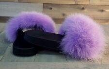 Real Fur Fox Slide Sandals
