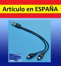 mini USB - Cable Y MICRO cargador mp3 audio SHUFFLE PC datos duplicador doble