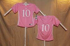 KANSAS JAYHAWKS Adidas #10 FOOTBALL JERSEY Youth Girls Large (size 14)  NWT pink