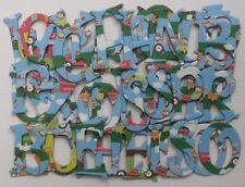 Reminisce *MONKEY ADVENTURES* Scrapbook Chipboard Letters Alphabet