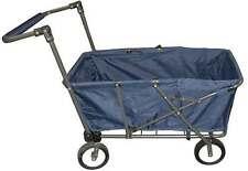 Folding Wagon Collapsible Utility Cart Garden Buggy Shopping Beach Wagon Blue