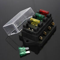 Copper Fuse Holder Box 4 Way Car Vehicle Circuit Automotive Blade Fuse Box new