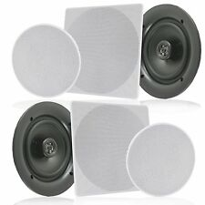 """(Pair) Pyle Pdic1666 6.5"""" In-Wall/In-Ceiling Home Speaker, 2Way Flush Mount,200W"""